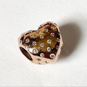 PANDORA Sparkle of Love Rose Charm